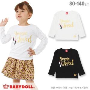 50%OFF SALE ベビードール BABYDOLL 子供服 フリル ライン ロンT 0958K ベビーサイズ キッズ 女の子|babydoll-y