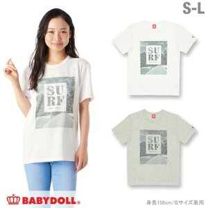 50%OFF SALE ベビードール BABYDOLL 子供服 親子ペア SURF Tシャツ 大人 男女兼用 レディース メンズ-1095A|babydoll-y