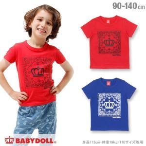50%OFF SALE ベビードール BABYDOLL 子供服 バンダナプリント Tシャツ 春 夏 男の子 女の子 ベビーサイズ キッズ-1126K|babydoll-y