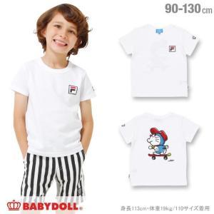 30%OFF SALE ベビードール BABYDOLL 子供服 ドラえもん FILA 胸ロゴ Tシャツ 男の子 女の子 ベビーサイズ キッズ-1209K|babydoll-y