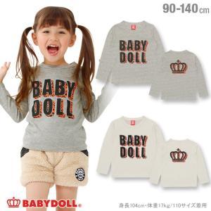 50%OFF SALE ベビードール BABYDOLL 子供服 ヒョウロゴ ロンT 1231K ベビーサイズ キッズ 男の子 女の子|babydoll-y