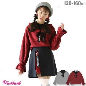 30%OFF SALE ベビードール BABYDOLL 子供服 PINKHUNT PH レイヤード シャツ 1245K キッズ ジュニア 女の子|babydoll-y