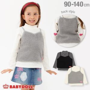 50%OFF SALE ベビードール BABYDOLL 子供服 ボア キャミ付き タートルネック リブロンT 1510K ベビーサイズ キッズ 女の子|babydoll-y