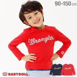 50%OFF SALE ベビードール BABYDOLL 子供服 ラングラー コラボ ロゴ ロンT 1751K ベビーサイズ キッズ 男の子 女の子 Wrangler|babydoll-y