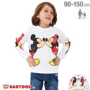 ベビードール BABYDOLL 子供服 親子お揃い ディズニー なかよしキャラクター トレーナー 1763K ベビーサイズ キッズ 男の子 女の子 DISNEY|babydoll-y
