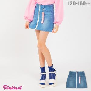 30%OFF SALE ベビードール BABYDOLL 子供服 PINKHUNT PH ピンクハント 前ジップ デニム スカート 1805K キッズ ジュニア 女の子|babydoll-y