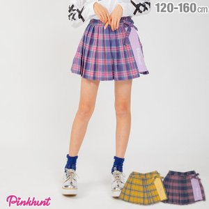 30%OFF SALE ベビードール BABYDOLL 子供服 PINKHUNT PH チェック プリーツスカート 1831K キッズ ジュニア 女の子|babydoll-y