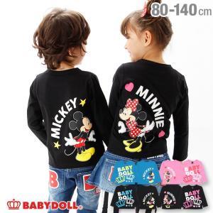 50%OFF SALE ベビードール BABYDOLL 子供服 ディズニー ハートペア ロンT 2004K ベビーサイズ キッズ 男の子 女の子 DISNEY|babydoll-y