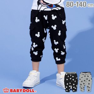 30%OFF SALE ベビードール BABYDOLL 子供服 ディズニー アイコン総柄 7分丈 ロングパンツ 2006K ベビーサイズ キッズ 男の子 女の子 DISNEY|babydoll-y