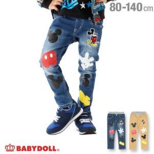 ベビードール BABYDOLL 子供服 ディズニー アイコン デニム ロングパンツ 2064K ベビーサイズ キッズ 男の子 女の子 DISNEY|babydoll-y