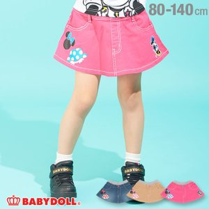30%OFF SALE ベビードール BABYDOLL 子供服 ディズニー アイコン デニム スカート 2065K ベビーサイズ キッズ 男の子 女の子 DISNEY|babydoll-y