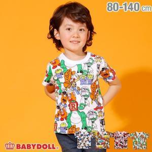 ベビードール BABYDOLL 子供服 ディズニー キャラクター 総柄 Tシャツ 2136K キッズ 男の子 女の子 DISNEY|babydoll-y