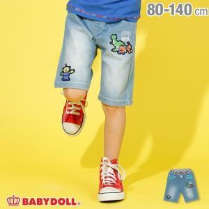 ベビードール BABYDOLL 子供服 ディズニー キャラクター デニム ハーフパンツ 2141K キッズ 男の子 女の子 DISNEY|babydoll-y