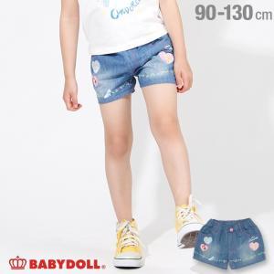30%OFF SALE ベビードール BABYDOLL 子供服 ディズニー ハート キャラクター デニム ショートパンツ 2171K キッズ 女の子 DISNEY|babydoll-y