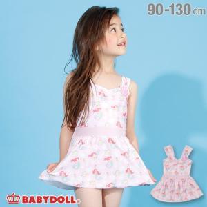 30%OFF SALE ベビードール BABYDOLL 子供服 ディズニー 水着 シェルワッペン付き ワンピース 2199K キッズ 女の子 DISNEY|babydoll-y