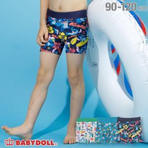 30%OFF SALE ベビードール BABYDOLL 子供服 ディズニー 水着 総柄 ラッシュパンツ 2207K キッズ 女の子 DISNEY|babydoll-y