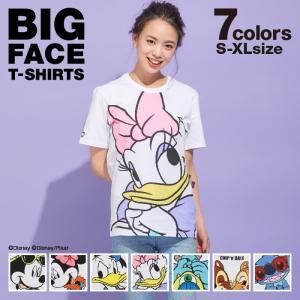 ベビードール BABYDOLL 子供服 親子お揃い ディズニー BIGフェイス Tシャツ 2256A 大人 レディース メンズ DISNEY|babydoll-y
