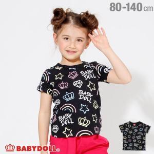 30%OFF SALE ベビードール BABYDOLL 子供服 ネオン 総柄 Tシャツ 2260K ベビーサイズ キッズ 男の子 女の子|babydoll-y
