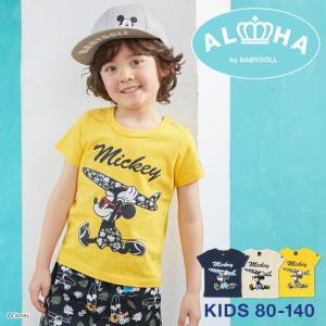 ベビードール BABYDOLL 子供服 親子お揃い ディズニー サーフ Tシャツ 2281K ベビーサイズ キッズ 男の子 女の子 DISNEY|babydoll-y