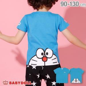 ベビードール BABYDOLL 子供服 ドラえもん BIGフェイス Tシャツ 2288K ベビーサイズ キッズ 男の子 女の子|babydoll-y