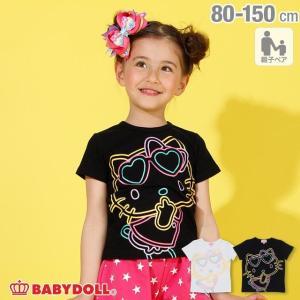 ベビードール BABYDOLL 子供服 親子お揃い サンリオ ラメ BIG キャラクター Tシャツ 2290K キッズ 男の子 女の子|babydoll-y