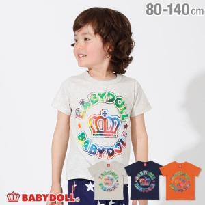 50%OFF SALE ベビードール BABYDOLL 子供服 サークル タイダイ ロゴ Tシャツ 2434K キッズ 男の子 女の子|babydoll-y