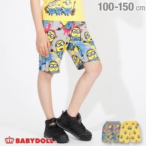 ベビードール BABYDOLL 子供服 ミニオン キャラクター 総柄 ハーフパンツ 2445K キッズ 男の子 女の子|babydoll-y