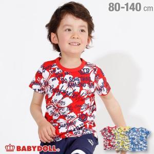30%OFF SALE ベビードール BABYDOLL 子供服 ラクガキ 総柄 Tシャツ 2459K キッズ 男の子 女の子|babydoll-y