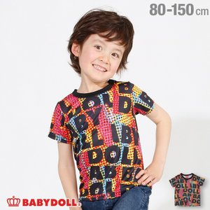 7/22まで50%OFFからさらに20%OFF!SALE ベビードール BABYDOLL 子供服 ロゴ 総柄 Tシャツ 2462K ベビーサイズ キッズ 男の子 女の子|babydoll-y