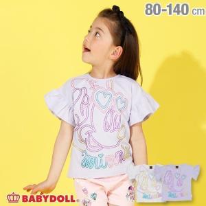 30%OFF SALE ベビードール BABYDOLL 子供服 ディズニー BIGフェイス ラメ Tシャツ 2491K キッズ 男の子 女の子 DISNEY|babydoll-y