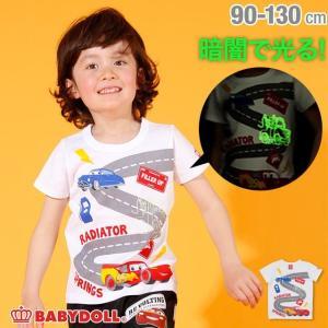 30%OFF SALE ベビードール BABYDOLL 子供服 ディズニー 蓄光プリント Tシャツ 2526K キッズ 男の子 女の子 DISNEY|babydoll-y