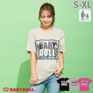 30%OFF SALE ベビードール BABYDOLL 子供服 親子お揃い シルバーライン Tシャツ 2535A 大人 レディース メンズ|babydoll-y