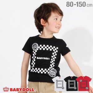 30%OFF SALE ベビードール BABYDOLL 子供服 チェッカーロゴ Tシャツ 2537K キッズ 男の子 女の子|babydoll-y