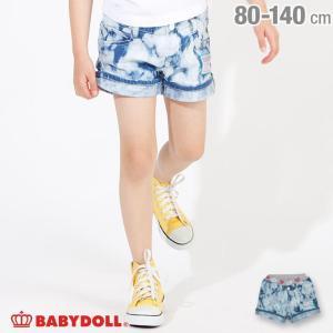 30%OFF SALE ベビードール BABYDOLL 子供服 ワッペン デニム ショートパンツ 2547K キッズ 女の子|babydoll-y