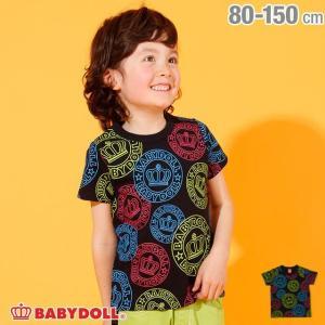 30%OFF SALE ベビードール BABYDOLL 子供服 王冠 ロゴネオン Tシャツ 2565K キッズ 男の子 女の子|babydoll-y