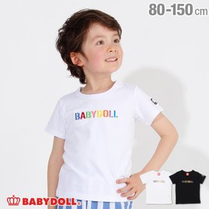 30%OFF SALE ベビードール BABYDOLL 子供服 親子お揃い ロゴ刺繍 Tシャツ 2566K キッズ 男の子 女の子|babydoll-y