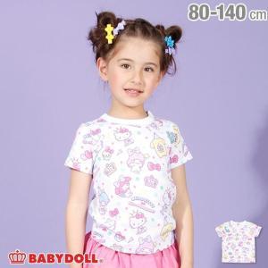 ベビードール BABYDOLL 子供服 サンリオ アニバーサリー 総柄 Tシャツ 2569K キッズ 女の子|babydoll-y