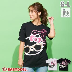 ベビードール BABYDOLL 子供服 親子お揃い サンリオ サングラス Tシャツ 2576A 大人 レディース メンズ|babydoll-y