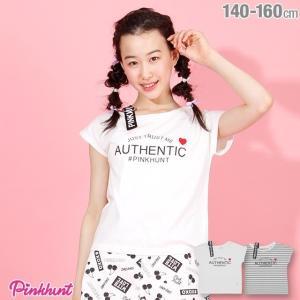 30%OFF SALE ベビードール BABYDOLL 子供服 PINKHUNT PH 肩ベルトストラップ Tシャツ 2611K キッズ ジュニア 女の子|babydoll-y