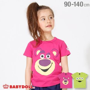 30%OFF SALE ベビードール BABYDOLL 子供服 ディズニー BIGフェイス Tシャツ 2618K キッズ 男の子 女の子 DISNEY|babydoll-y