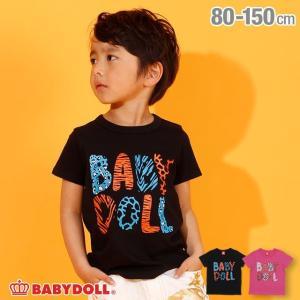 7/22まで50%OFFからさらに20%OFF!SALE ベビードール BABYDOLL 子供服 アニマル ロゴ Tシャツ 2624K キッズ 男の子 女の子|babydoll-y