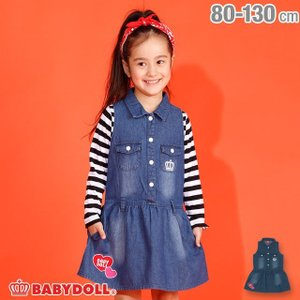 ベビードール BABYDOLL 子供服 デニム ワンピース 2926K キッズ 女の子|babydoll-y