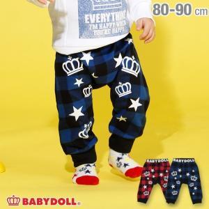 ベビードール BABYDOLL 子供服 チェック切替 モンキーパンツ 2930B ベビーサイズ 男の子 女の子|babydoll-y