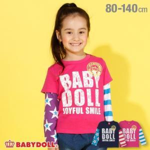 ベビードール BABYDOLL 子供服 クレイジー レイヤード ロンT 2940K キッズ 男の子 女の子|babydoll-y