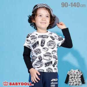 ベビードール BABYDOLL 子供服 ディズニー 総柄 レイヤード ロンT 2973K キッズ 男の子 女の子 DISNEY|babydoll-y