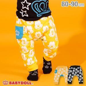 ベビードール BABYDOLL 子供服 ディズニー フェイス柄 モンキーパンツ 2984B ベビーサイズ キッズ 男の子 女の子 DISNEY|babydoll-y