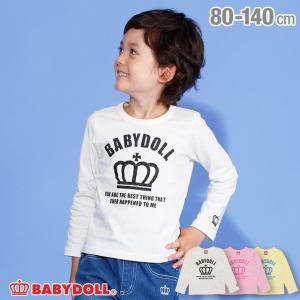 ベビードール BABYDOLL 子供服 王冠 ロゴ ロンT 3029K キッズ 男の子 女の子|babydoll-y