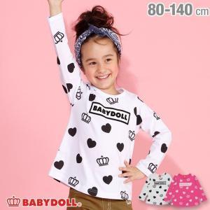 ベビードール BABYDOLL 子供服 ハート 総柄 ロンT 3099K キッズ 女の子|babydoll-y