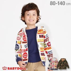 ベビードール BABYDOLL 子供服 カラフル ロゴ 総柄 ジップパーカー 3112K キッズ 男の子 女の子|babydoll-y