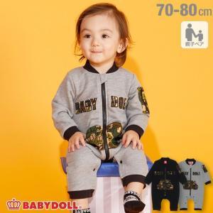 ベビードール BABYDOLL 子供服 迷彩 ロゴ ロンパース 3117B  男の子 女の子|babydoll-y